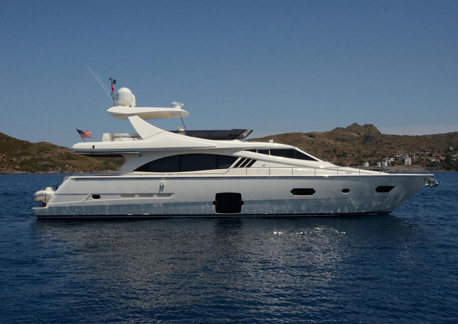 used Ferretti 750 yacht for sale
