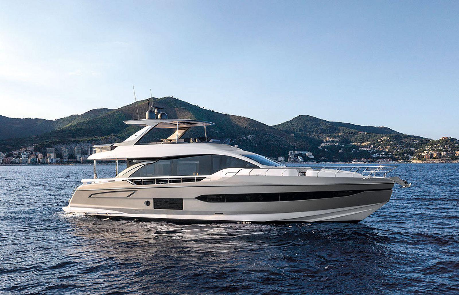 used azimut 78 flybridge yacht