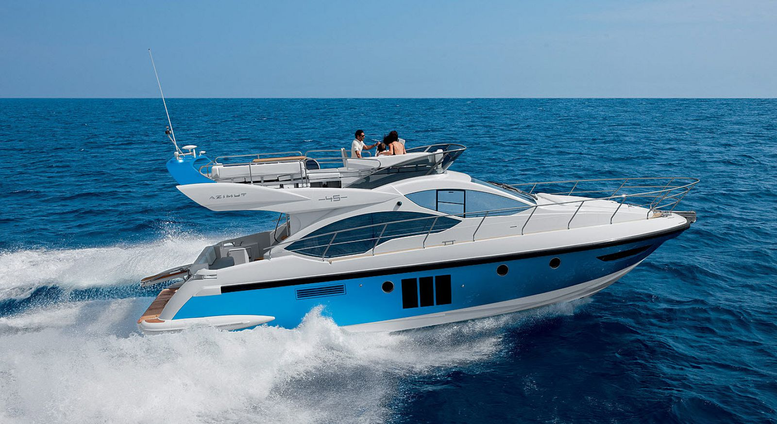 azimut 45 flybridge yacht for sale