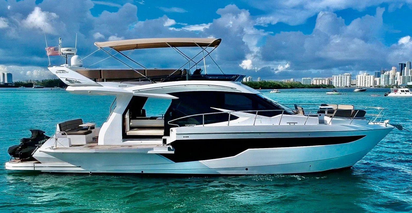 galeon 500 flybridge yacht