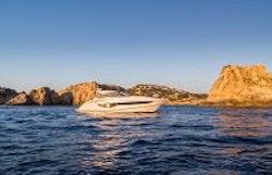 Princess 40 Express Yacht Idle Sunset