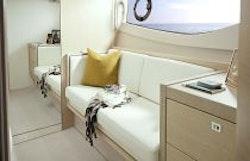 Princess Yachts V40 Master Stateroom Sofa Detail