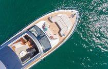 Open sunroof on Princess Yachts V78