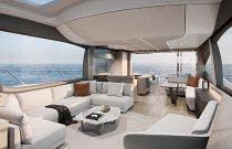 Salon on the Princess Yachts V78