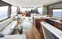Gorgeous salon on the V78 Yacht