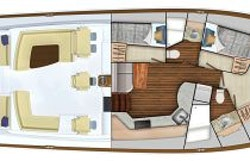 Viking 54SC 3 Cabin Layout