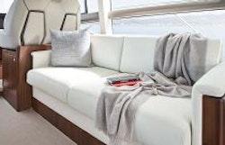 Sofa aft of helm