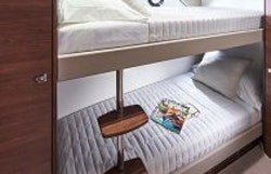 third guest cabin with bunks