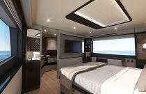 master stateroom on absolute 60 fly