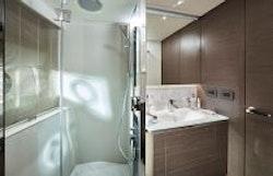 guest bathroom shower stall
