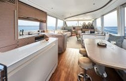 Galley with dining table open