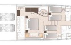 Lower Deck Layout - Princess Y72