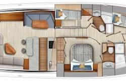 Interior Cabin Layout - Viking 64 Convertible